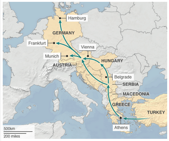 EUROPE MAP for MIGRANTS